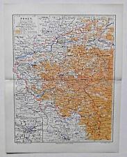 Poznań, Posen, Polen - Alte Karte der Region - Lithographie um 1890