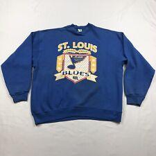 VTG St. Louis Blues NHL Hockey Pullover Sweatshirt XL ScreenPrinted