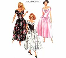 Simplicity 9558 Jessica McClintock Semi Formal Dress Sz 8-14 UNCUT Vintage 1989