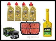 Kit tagliando triumph tiger 800 xc olio castrol 10w40 filtro olio aria + omaggio