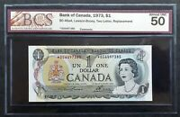 1973 Bank of Canada $1 Replacement Note *OG6497385 BCS AU-50 Original BC-46aA