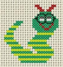 "Bookmark /""Boys Books/"" 6 count aida fabric, Childrens 6 count cross stitch"