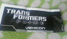 TRANSFORMERS PRIME VEHICON INSTRUCTION BOOKLET ONLY