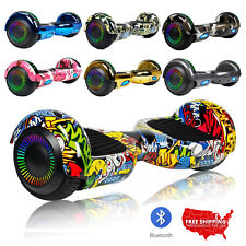 6.5'' Hoverboard Bluetooth Speaker Chrome Led Star Flashing Wheels Scooter Bag