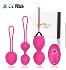 BEQOOL Kegel Balls Exercise Weights Set of 3 Ben Wa Ball - Doctor Recommended -