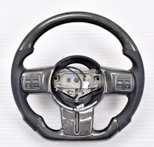 Promotion! 100% Real Carbon Fiber/Leather Car Steering Wheel For Jeep Wrangler