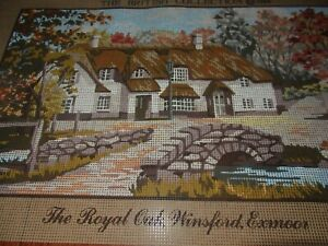 NEW TAPESTRY CANVAS PRINT 43cms x 26cms-KINETIC~THE ROYAL OAK WINSFORD EXMOOR