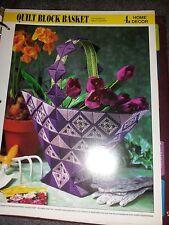 Plastic Canvas Quilt Block Basket pattern