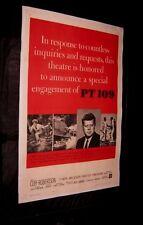 Original PT 109 JOHN KENNEDY Linen Backed O/S CLIFF ROBERTSON