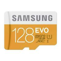 SAMSUNG EVO 128GB MICROSD MEMORY CARD HIGH SPEED W2D for SMARTPHONES