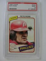1980 Topps PHILADELPHIA PHILLIES #540 PETE ROSE PSA 9 Mint Baseball Card