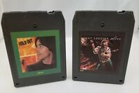 1970s Rock 8 Track Tapes Lot of 2 Kenny Loggins Alive, Jackson Browne Hold Out