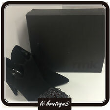 RMK Avana Black Suede Ankle Boots RRP $169.95 Size 37 or 6
