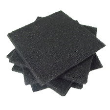 "10pc Desco 4""x4""x1/4"" High-Density Anti-Static Foam; Conductive ESD IC Inse"