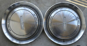 RARE 1990 / 97 Lincoln Town CAR F0VC-1130-AC Hubcaps MATCHED PAIR OEM parts NICE