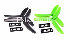 2 Pairs GEMFAN 5030 3-blade Propeller Props CW for Multi-Copter Green + Black