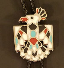 Multi-Color Enamel Thunderbird Bolo Tie Pow Wow Fancy Dancer Western Costume