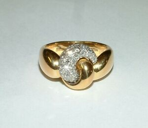 Leo Wittwer Ring in 750er Gelbgold Weißgold Bicolor mit Brillanten 0,44 ct