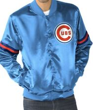 Chicago Cubs MLB Men's Starter Jacket Blue Satin NWT Size M