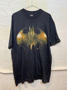 Vintage 1995 Rare Batman Forever Logo Movie T Shirt Rare Size XL DC COMICS Singl