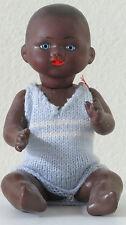 """Bamboula Noir """"F""""  27 cm 10,8 Inch  Poupée Ancienne  Reproduction  Antique  Doll"""