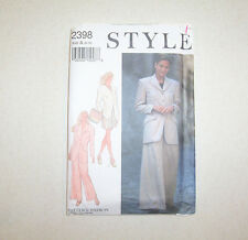 Uncut Style Women's Jacket Pants & Shorts Sewing Pattern #2398