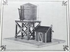 JV Models HO/HOn3 Water Tower & Pump House (3010)