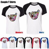 Cool Car JDM Finger Six Design Couples T-Shirt Men's Women's Graphic Tee Tops