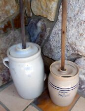(2) Antique Butter Churns (Marshall Pottery)