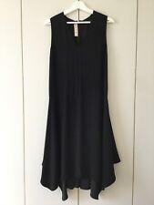 ❤️ MARNI 40 10 100% Silk Drop Waist Black Cocktail Dress Designer ❤️