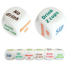 Funny Drink Drinking Sip Dice Roll Decider Die Game Party Bar Club Pub Gift ToyL
