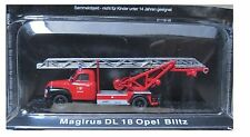 "DIE CAST "" MARGIRUS DL 18 OPEL BLITZ "" FIREFIGHTERS OF FIRE TRUCK SCALE 1/72"