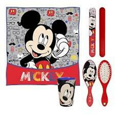 Disney MICKEY MOUSE 5pc Child Health - Towel, Cup, Toothbrush Cover, Brush, Bag