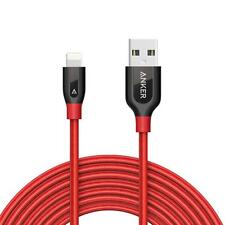 Anker PowerLine+ Lightning Cable (10ft) Durable and Fast Charging Cable - Red