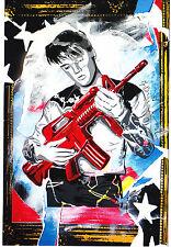 Mr Brainwash Elvis Presley Don't Be Cruel Promo music print pop art bansky kaws