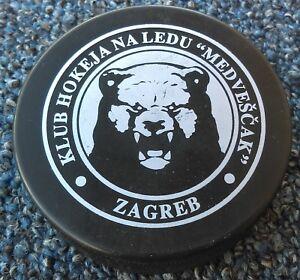 ICE HOCKEY CLUB Medveščak Zagreb Croatia KHL League PILOS PUCK MADE IN SLOVAKIA