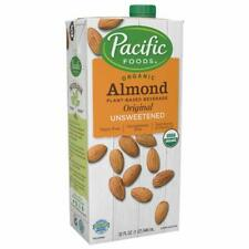 Pacific Foods Organic Almond Non-Dairy Beverage, Unsweetened Original (12 pack)