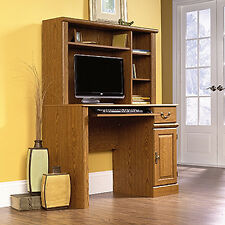 Computer Desk With Hutch - Carolina Oak - Orchard Hills Collection (401353)