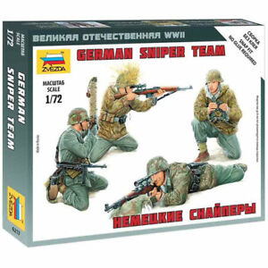 Zvezda 1/72 scale WW2 GERMAN SNIPER TEAM