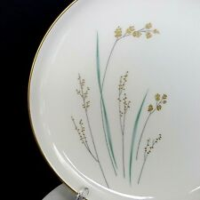 Syracuse Golden Seeds 6 Salad Plates 8.25 inch Gold Band Vintage 60s Made in USA