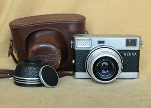 Werra 4 German Carl Zeiss Jena black rangefinder camera CLA Tessar Prestor MINT