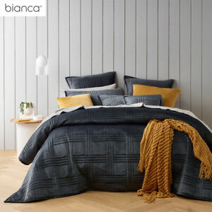 Dayton Charcoal Coverlet Set or Accessories by Bianca