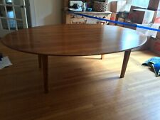 "Rustic pine large oval dining table. 95"" length."