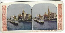 1900 Paris Exposition, Palaces of the Nations on the Seine, Vintage Stereoview