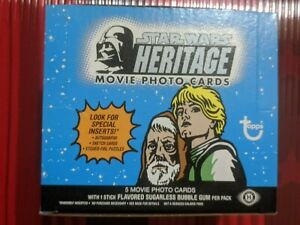 Star Wars Heritage 36 packs Trading Cards Hobby Box Topps 2004 --OPEN-- 1st Wave