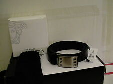 Versace collection belt adjustable size 100/115 genuine leather made in italy