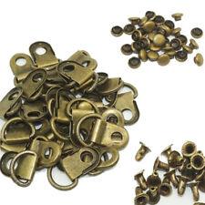 (Pack of 50 Set)Metal Rivet D Ring Lace Hooks shoe Eye Boot DIY Repair Kit