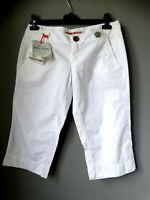 Pantaloni pinocchietto MISS SIXTY size 29 M/L bianchi cotone estivi ginocchio