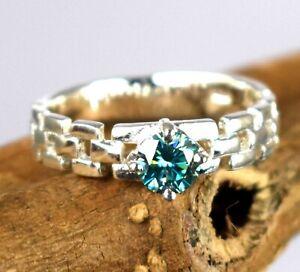 Blue Diamond  2.33 Ct Solitaire Men's Designer Ring-Special Occasion