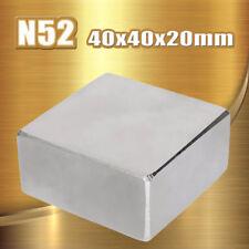 ☆ AIMANT SUPER PUISSANT DE  NÉODYME 40X40X20mm N52  MAGNET NEODYM ☆